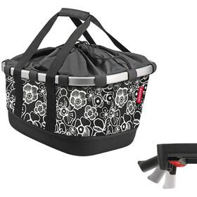 KlickFix Reisenthel GT Bike Basket with UniKlip, fleur black